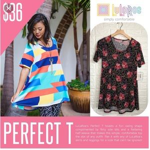 NWT LulaRoe floral perfect T